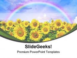 Sunflowers Field Nature Powerpoint Templates And Powerpoint ...