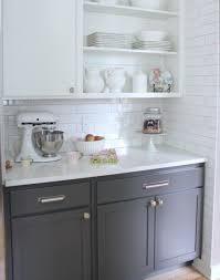 White Countertop Paint Sleek White Countertop And Subway Backsplash Tile Idea Also Cool