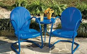 metal outdoor patio furniture. Metal Outdoor Chairs 17 440 Better Blue Chair And Table.jpg Patio Furniture R