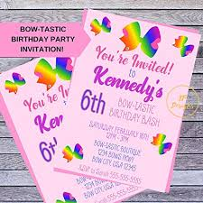Amazon Com Custom Bow Tastic Birthday Party Invitation For