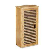 Badezimmer Hochschrank Bambus