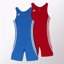 Adidas Wrestling Wrestler Suit Kids Pack Red Blue Color O59473 Singlet Applet From Gaponez Sport Gear