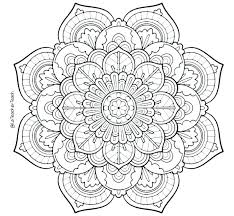 Coloring Pages Adults Free Online Mandalas Coloring Pages Flower