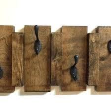 Wooden Coat Hook Rack Wall Hanging Coat Racks Antique Vintage Style Reclaimed Wood Wall 87