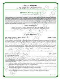 Resume Sample Teacher Best Of Resume Examples For Teacher Assistant Awesome Teacher Assistant