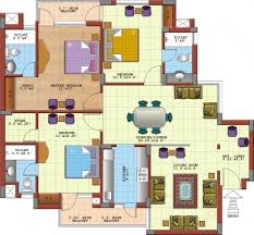 Gorgeous Three Bedroom Flat Design Plans Apartment House Modern Three  3bedroom Floor Plan In Nigeria Pic