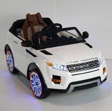 Luxury Range Rover Style 12v Kids Ride on Car Leather Seat, LED ...
