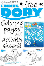 Finding Dory Printable Coloring Pages And