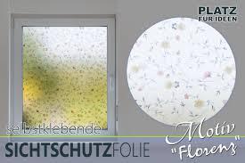 ᐅᐅdekorative Fenster Sichtschutzfolie Mit Blumenmotiv Hier