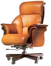 office chairs ideas with brown leather executive chair with swivel model and wooden base
