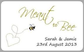 21x Honey Wedding Favour Stickers Meant To Bee Pot