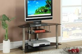 brown wood tv cabinet black triangular stand with glass shelves vans furniture 2
