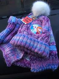 10 frozen hat glove and scarf set to