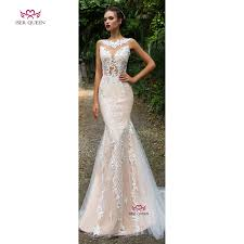 Wedding Court Design Us 105 86 33 Off Delicate Embroidery V Neck Tiered Sheer Court Train Wedding Dressed Champagne Illusion Unique Back Design Sexy Mermaid W0587 In