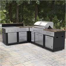 modular outdoor kitchen stunning master forge corner modular outdoor kitchen set lowe s canada from