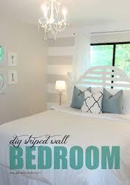 Striped Bedroom Paint Livelovediy Diy Striped Wall Guest Bedroom Makeover