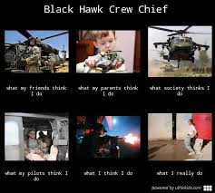 Black Hawk Crew Chief, What people think I do, What I really do ... via Relatably.com