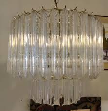 vintage lucite chandelier 1970s vintage lucite and brass chandelier sold