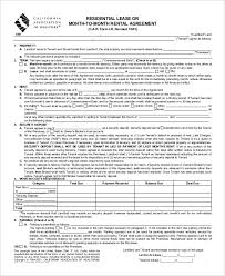 Lease Agreement Form Pdf Beauteous California Association Of Realtors Rental Agreement Template