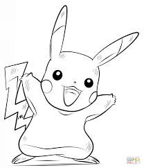 Pikachu Pokemon coloring page | Free Printable Coloring Pages
