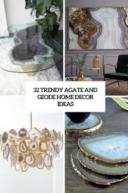 trendy agate and geode home decor ideas cover