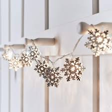 Battery Operated Led Indoor Lights 10 Silver Snowflake Battery Operated Led Indoor Christmas String Lights