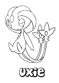 Uxie Pokemon Coloring Page Find Out