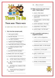 Was / There Were Elementary Worksheet