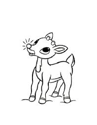 Rudolph Coloring Pages Rudolph The Red Nosed Reindeer Picture