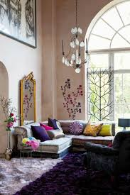 Interior Decorated Living Rooms Awesome Eclectic Living Room Purple Rug Once Again Not Crazy About Purple