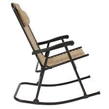gardenline folding rocking chair foldable rocker outdoor patio furniture beige rare photo