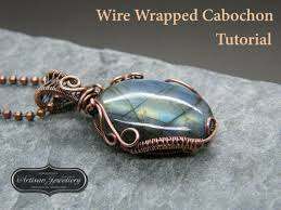 Wire Wrap Dream Catcher Tutorial Wire wrapped pendant tutorial Cabochon setting Jewelry kit 80