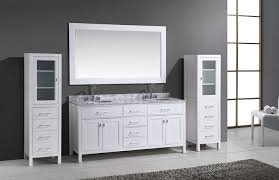 72 london double sink vanity set in white with two matching linen regarding bathroom vanity with