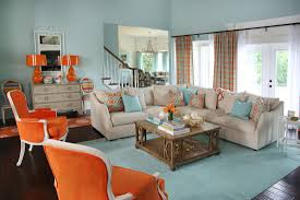 Expressing Personality With Color Living Room Orange
