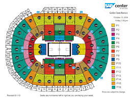 Paradigmatic Sharks Game Seating Chart San Jose Sharks