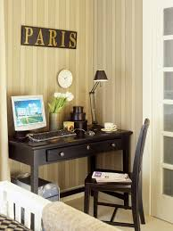 Office for small spaces Home From Nook To Office Lonny Smallspace Home Offices Storage Decor