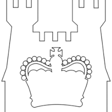 Small Picture Tiara Coloring Pages Blank Printable Crown Invitations Coolest