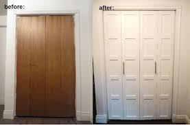 bi fold closet door makeover
