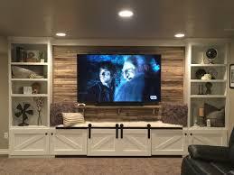 home media wall decor design ideas custom drywall entertainment centers tv contemporary living rooms brookside