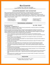11 Accounting Sample Resumes Self Introduce