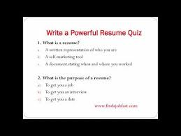 how to write a powerful resume to a job fast