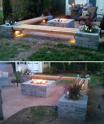 concrete block furniture ideas. 15 diy backyard and patio lighting projects concrete block furniture ideas h
