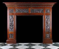 antique wood fireplace mantels victorian carved oak mantel 3
