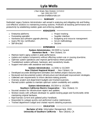 Linux Administration Sample Resume Windows Sys System Administrator