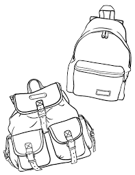 Small Picture Free Backpack Coloring Page