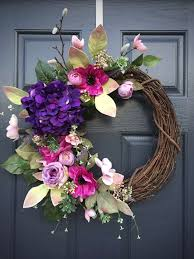 summer wreaths for front door39 DIY Spring Wreaths for the Front Door That You Can Make