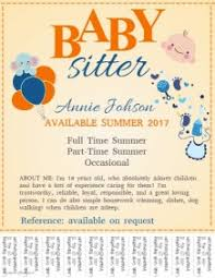 Sample Babysitting Flyer Customize 200 Babysitting Flyer Templates Postermywall