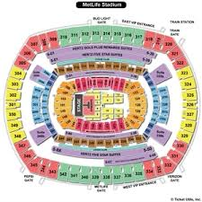 Metlife Stadium Seating Chart One Direction