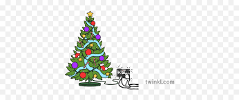 christmas tree with fairy lights and