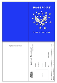 Free Passport Template For Kids Inspiration Great World Traveler Passport Template Pertaining To Free For Kids